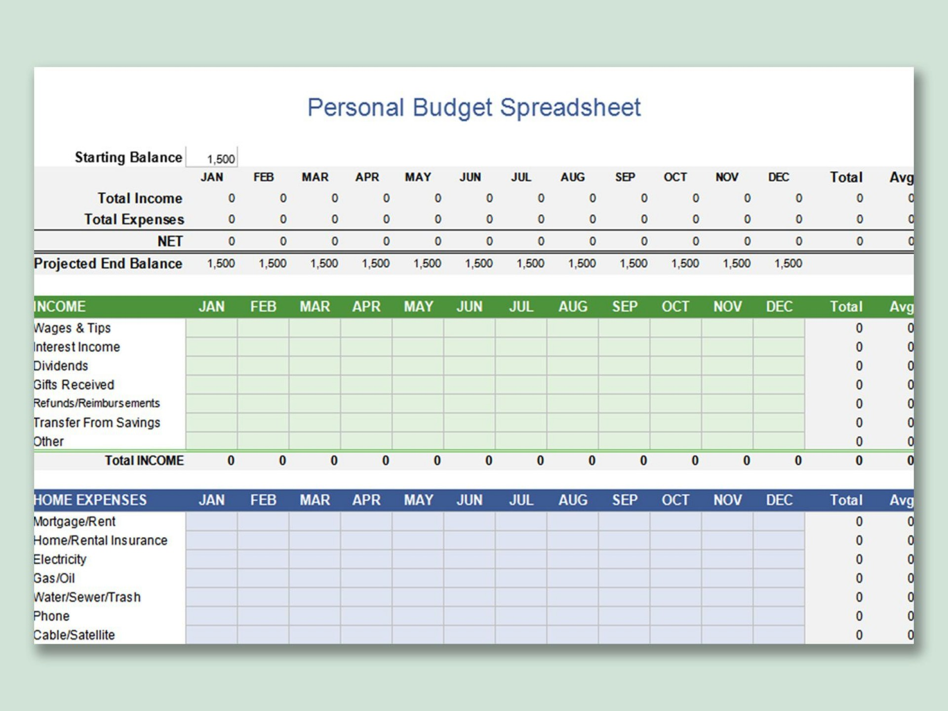 000 Impressive Free Personal Budget Template High Definition  Word Printable Uk Spreadsheet1920