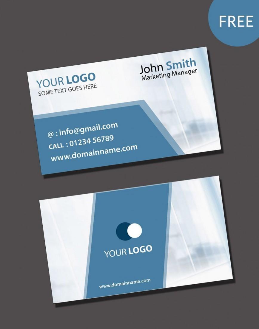 000 Impressive Free Photoshop Busines Card Template Download Design  Adobe Psd Visiting868