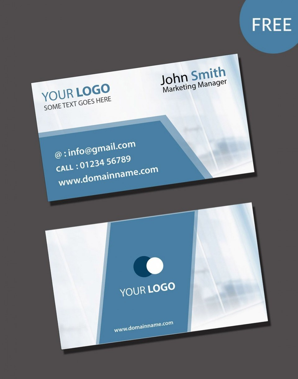 000 Impressive Free Photoshop Busines Card Template Download Design  Adobe Psd Visiting960