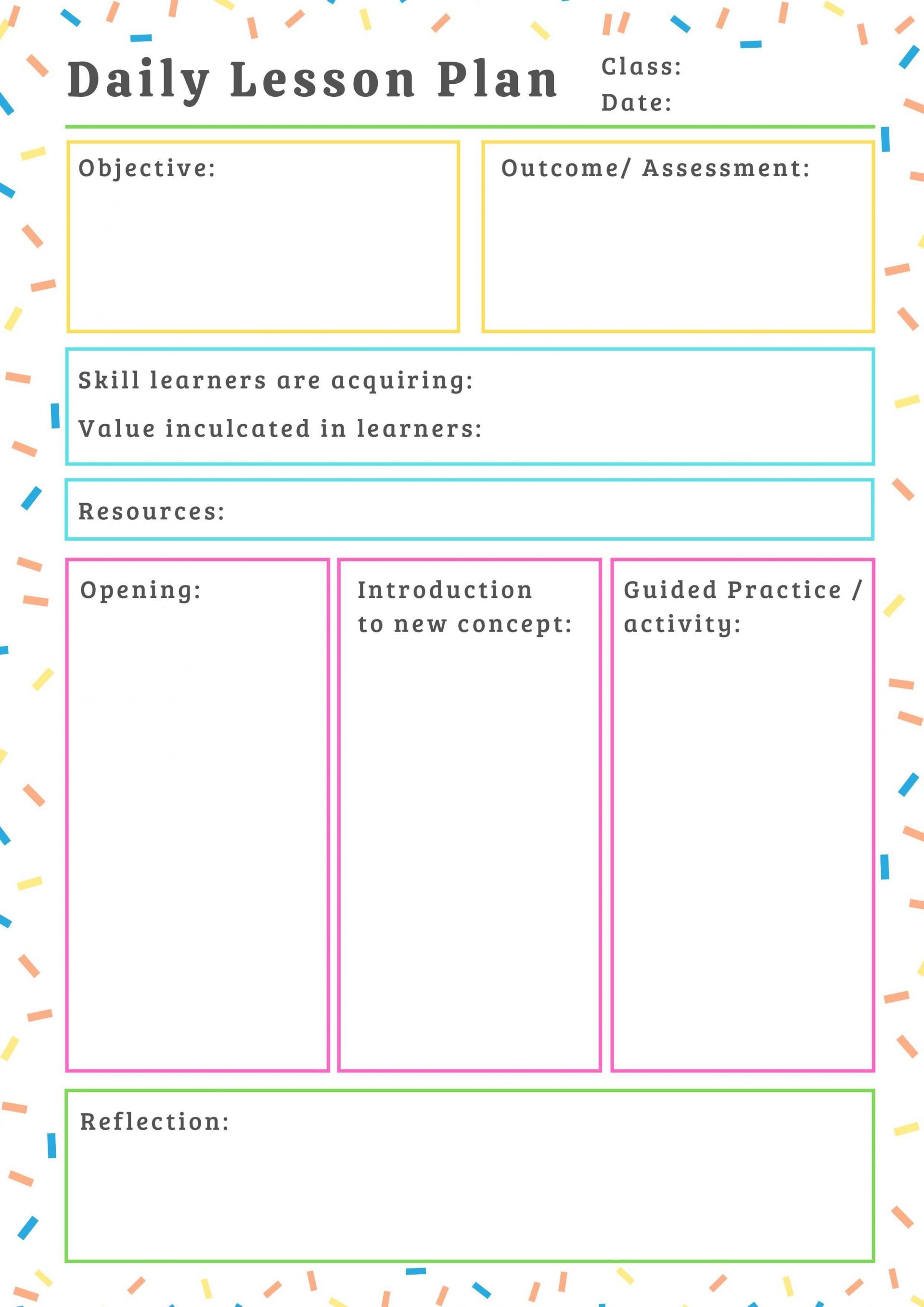 000 Impressive Free Printable Lesson Plan Template For Elementary Teacher High Resolution  Teachers1920