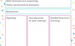 000 Impressive Free Printable Lesson Plan Template For Elementary Teacher High Resolution  Teachers