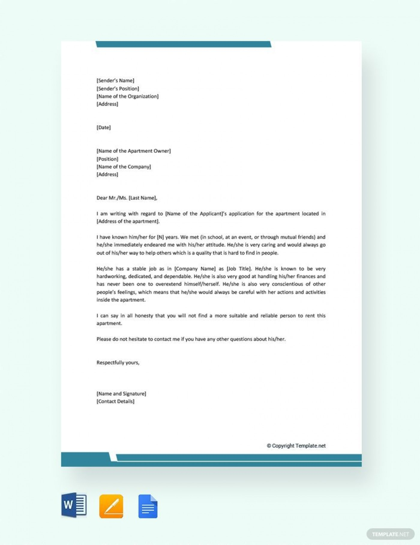 000 Impressive Free Reference Letter Template For Landlord Highest Quality  Rental1400