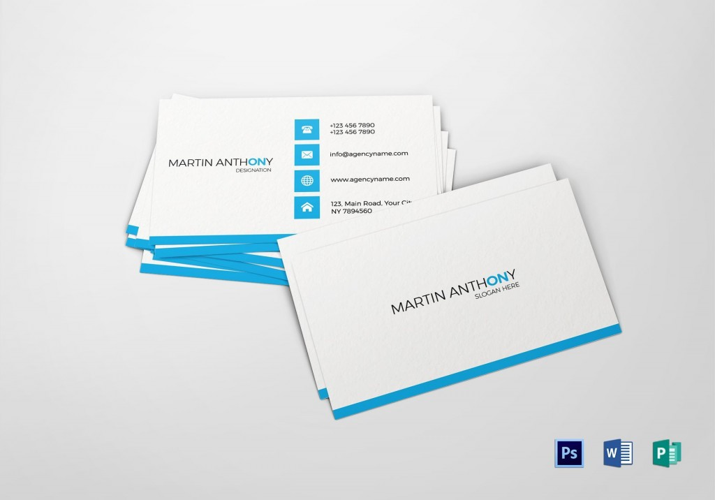 000 Impressive Free Simple Busines Card Template Word High Def Large