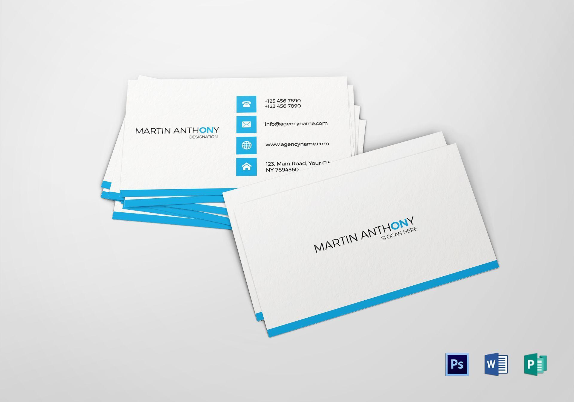 000 Impressive Free Simple Busines Card Template Word High Def Full