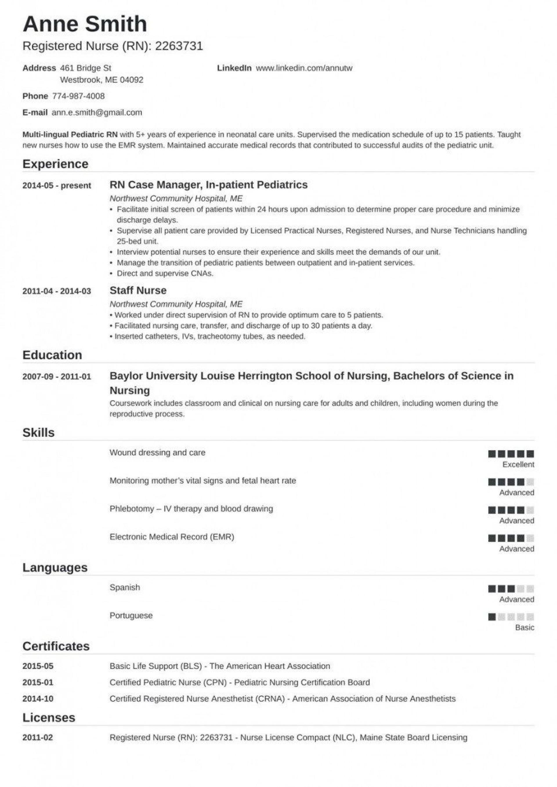 000 Impressive Free Student Nurse Resume Template Idea  Templates1920