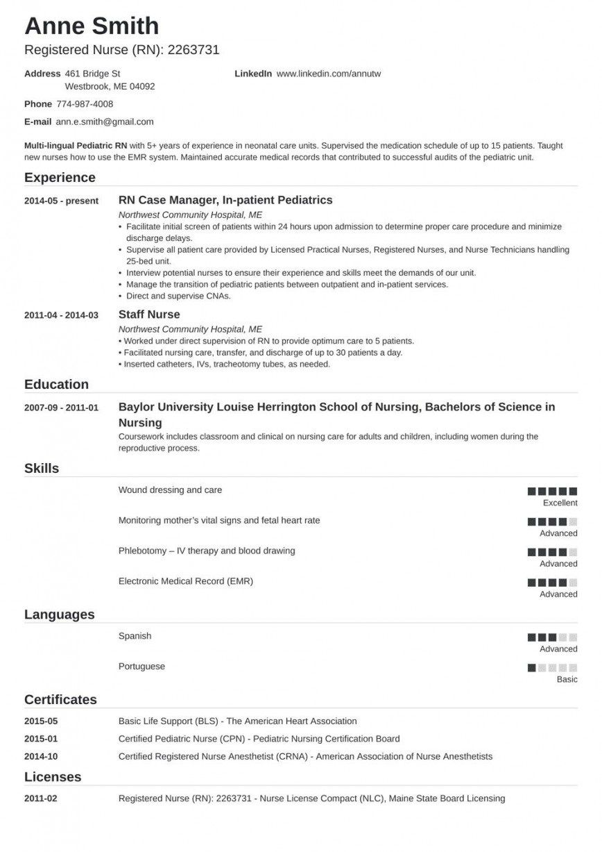 000 Impressive Free Student Nurse Resume Template Idea  TemplatesFull