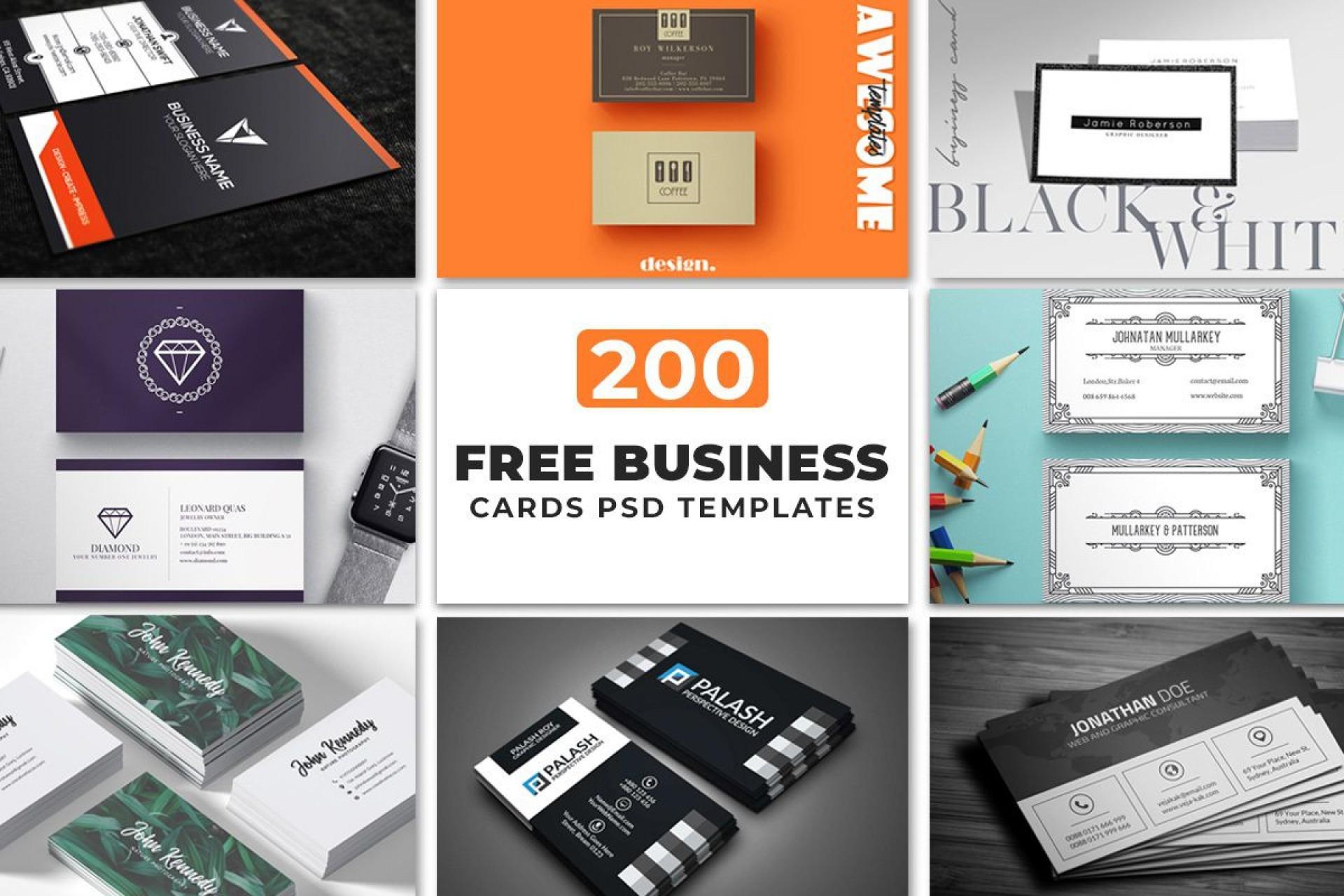 000 Impressive Free Visiting Card Design Psd Download Sample  Busines Restaurant1920