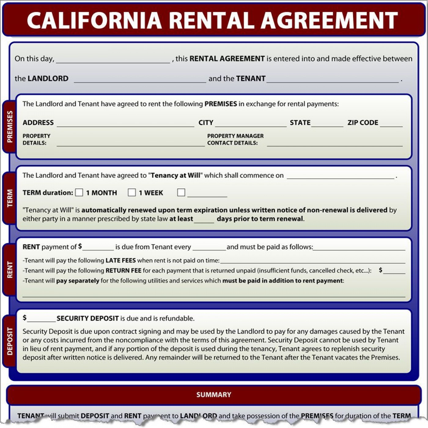 000 Impressive Generic Rental Lease Agreement Nj Design  Sample1400