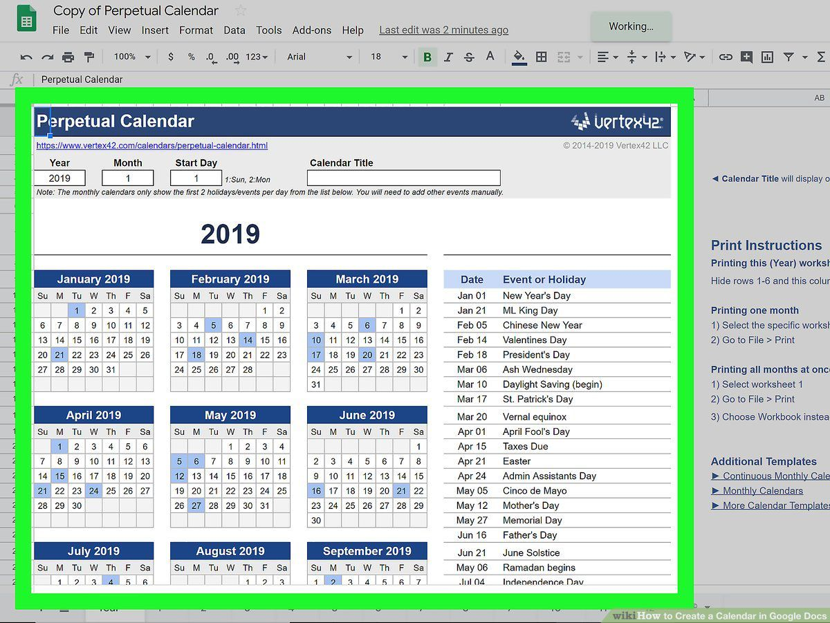 000 Impressive Google Sheet Calendar Template 2020 Picture  Monthly And 2021 2020-21Full