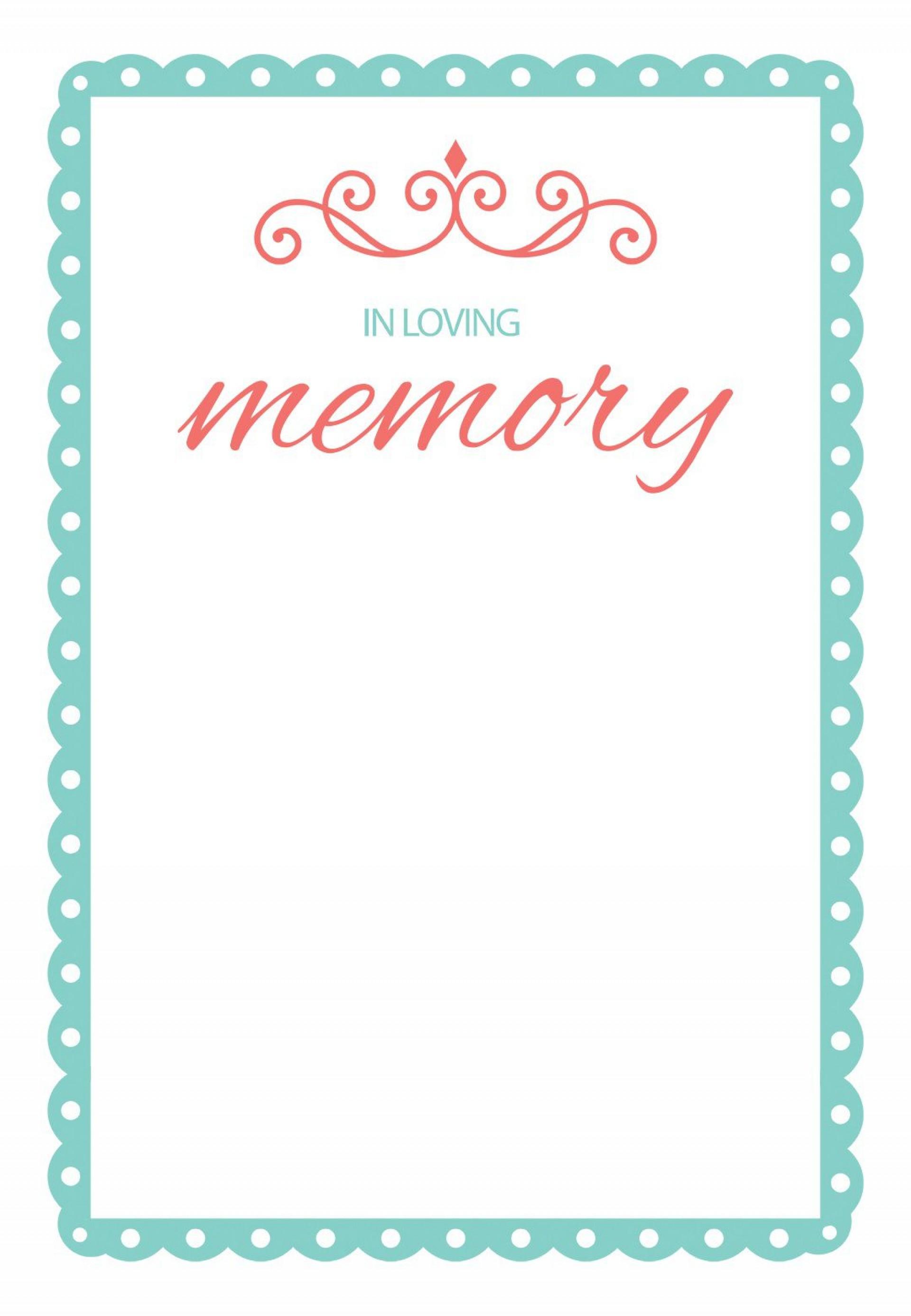 000 Impressive In Loving Memory Template Design  Free Download Card Bookmark1920