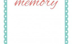 000 Impressive In Loving Memory Template Design  Free Download Card Bookmark