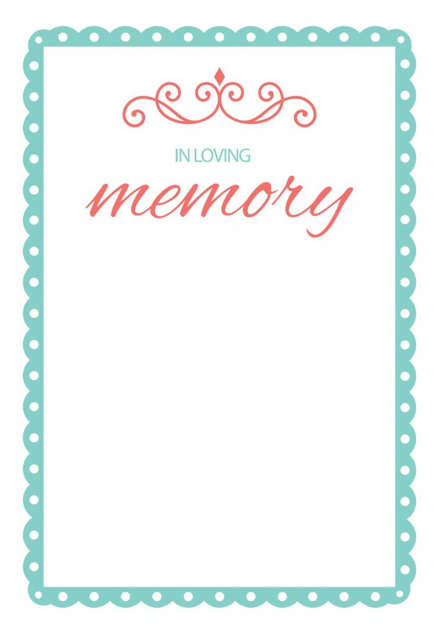 000 Impressive In Loving Memory Template Design  Free Online Powerpoint Download