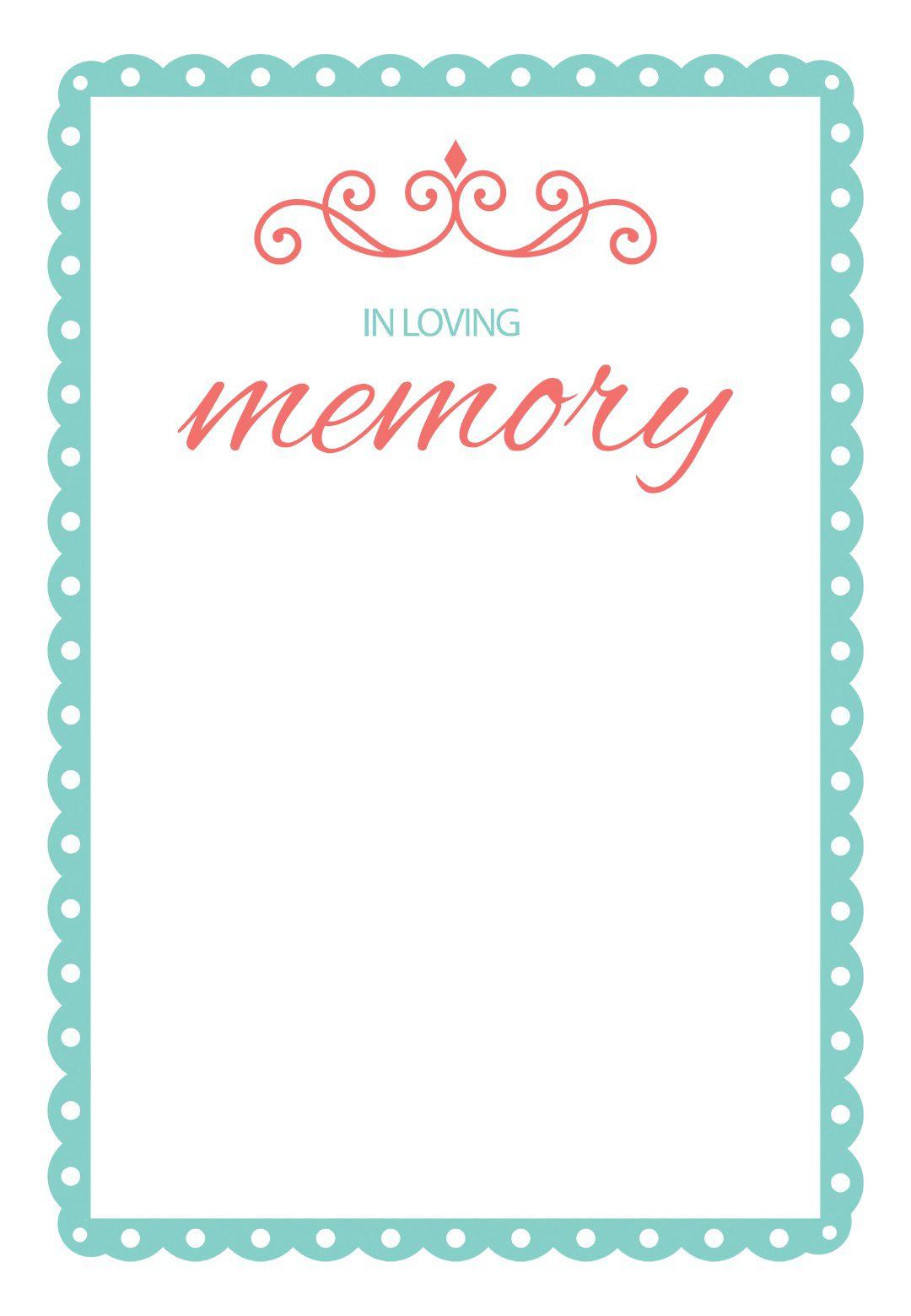 000 Impressive In Loving Memory Template Design  Free Download Card BookmarkFull