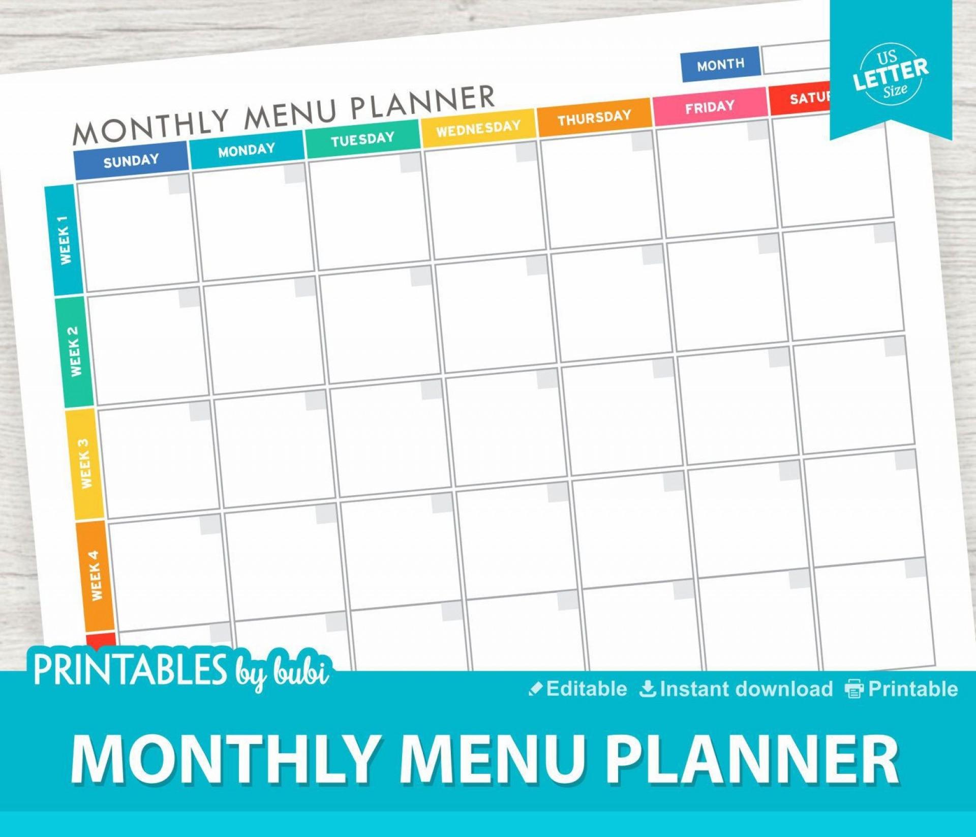 000 Impressive Meal Plan Template Pdf Picture  Printable Diabetic Sample Weekly Planning Worksheet1920