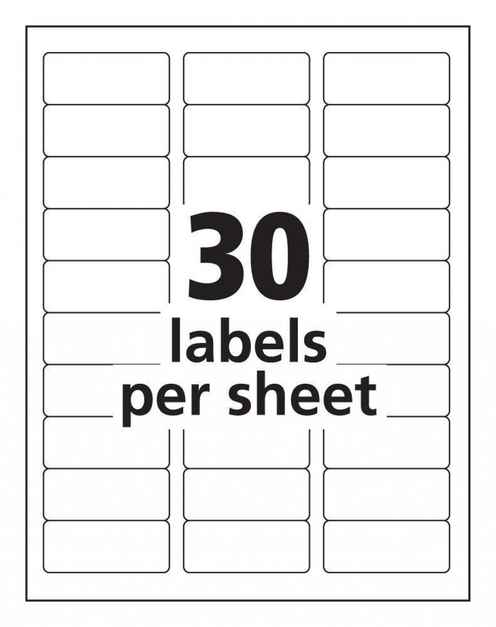 000 Impressive Microsoft Word Addres Label Template 30 Per Sheet Picture Large