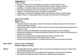 000 Impressive New Grad Nursing Resume Template Example  Nurse Graduate Practitioner