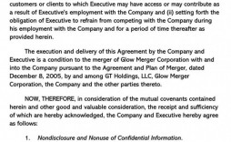 000 Impressive Non Compete Agreement Template Uk High Resolution