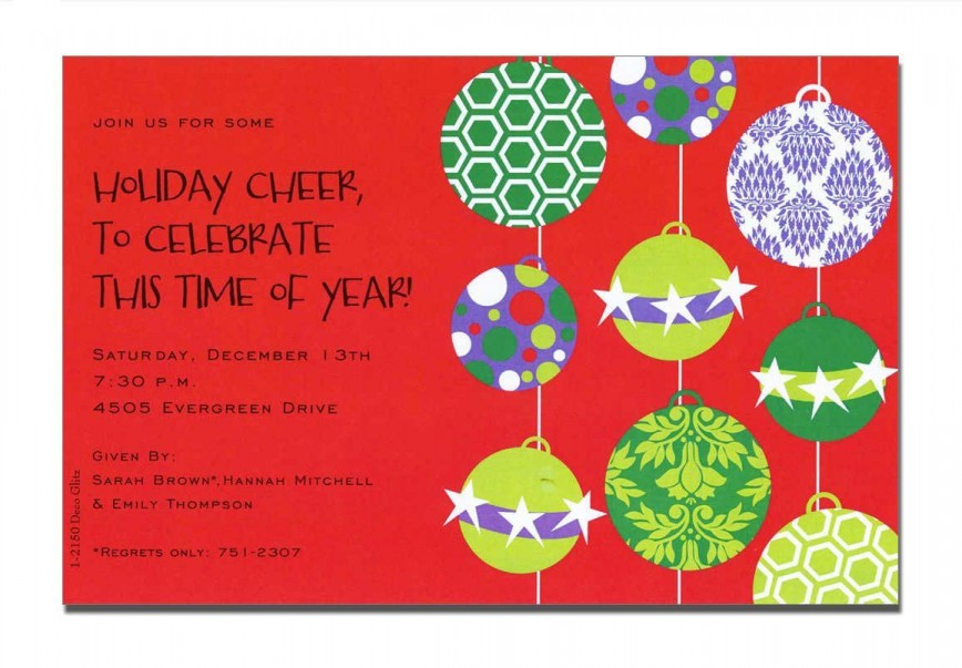 000 Impressive Office Christma Party Invitation Wording Sample High Resolution  Holiday Example868