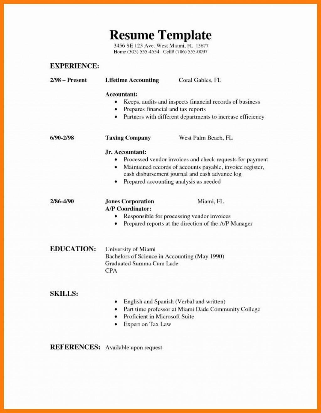 000 Impressive Part Time Job Resume Template Photo  Student Summary ExampleLarge