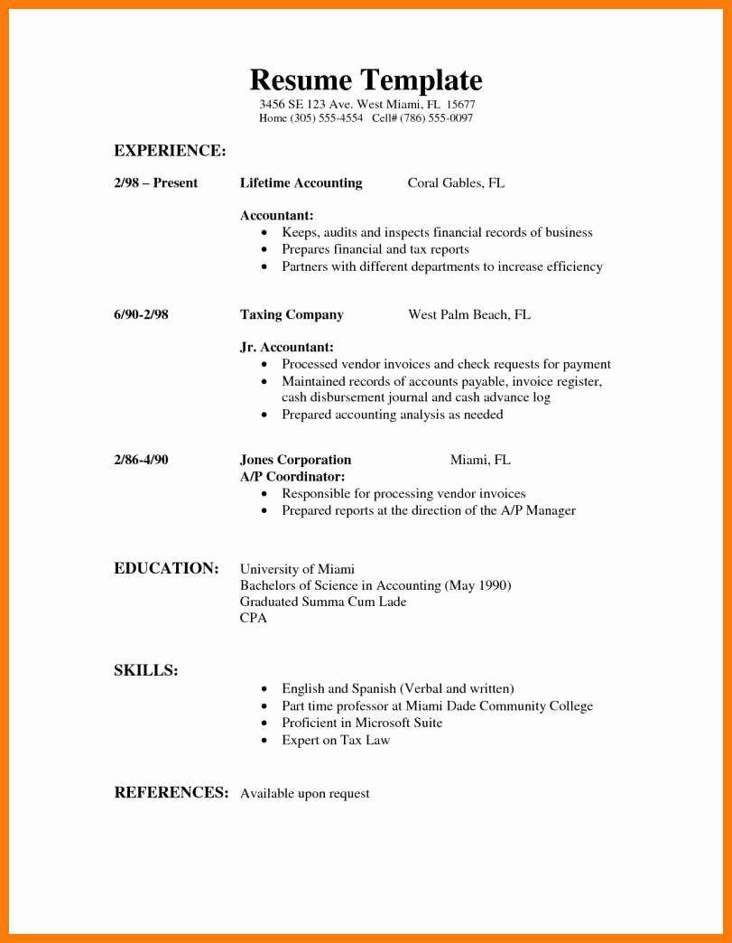 000 Impressive Part Time Job Resume Template Photo  Student Summary ExampleFull
