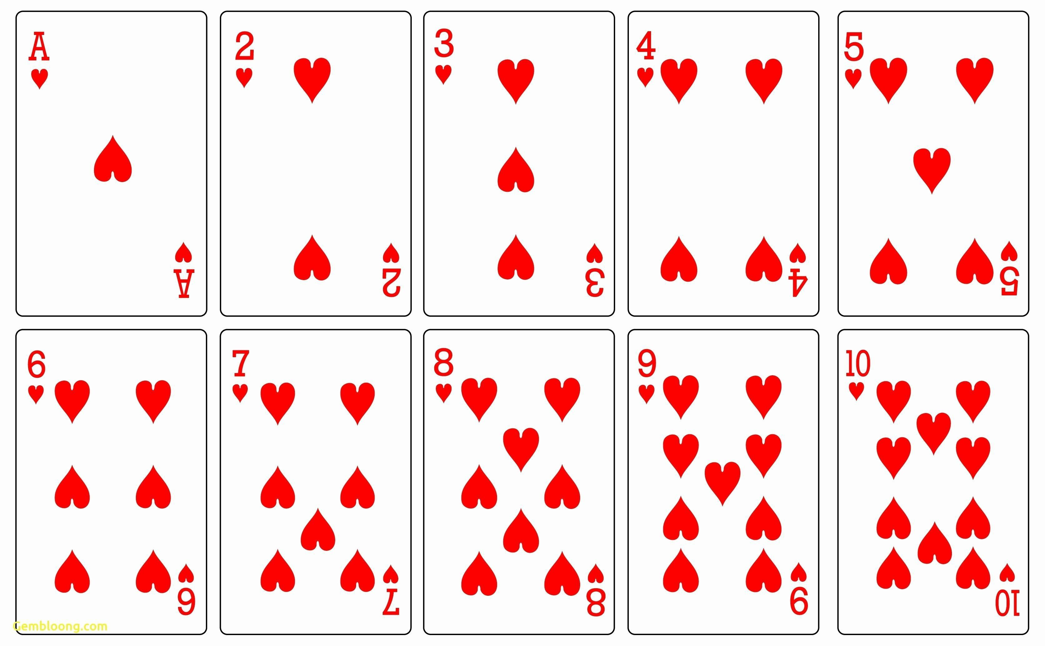 000 Impressive Playing Card Template Free Download Photo  BlankFull