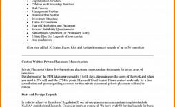 000 Impressive Private Placement Memorandum Template Real Estate High Resolution
