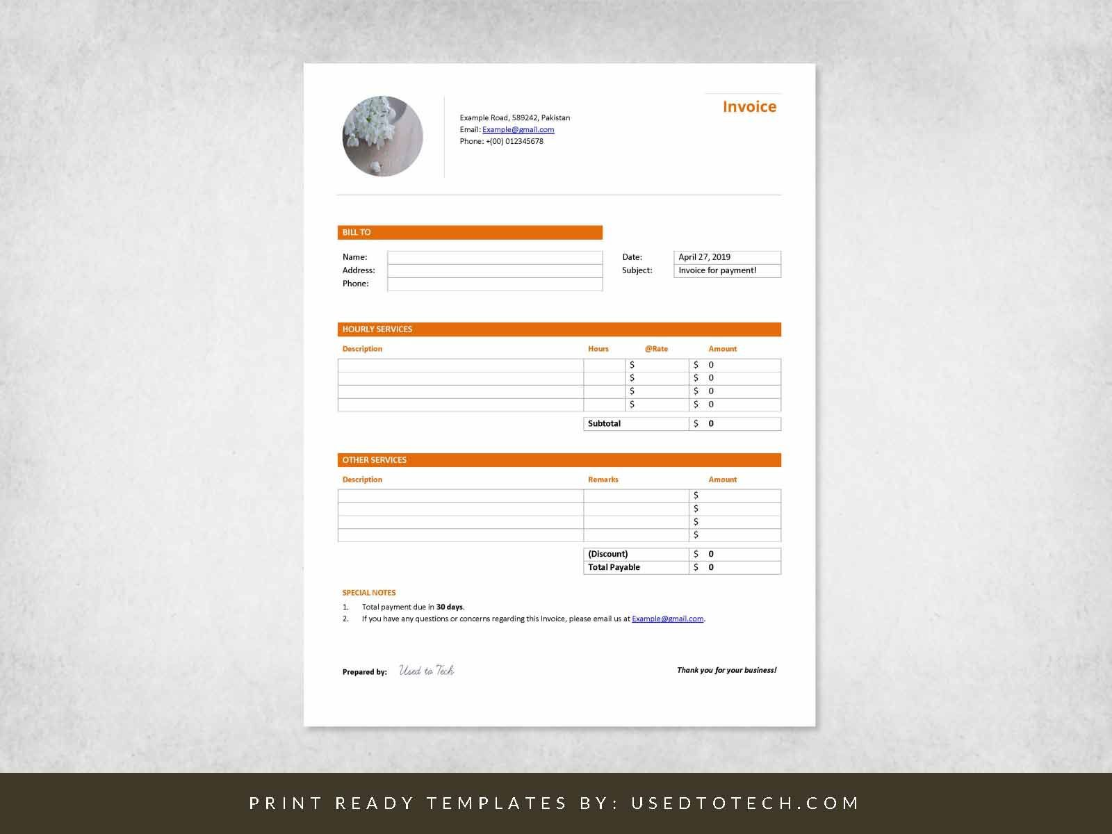 000 Impressive Professional Invoice Template Word Highest Quality  Service MicrosoftFull