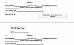 000 Impressive Rent Receipt Template Doc Example  Rental Format Word Download India
