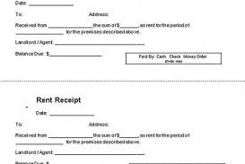 000 Impressive Rent Receipt Template Doc Example  House Format Download Free