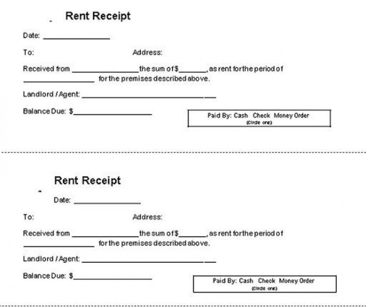 000 Impressive Rent Receipt Template Doc Example  House Format Download Free728