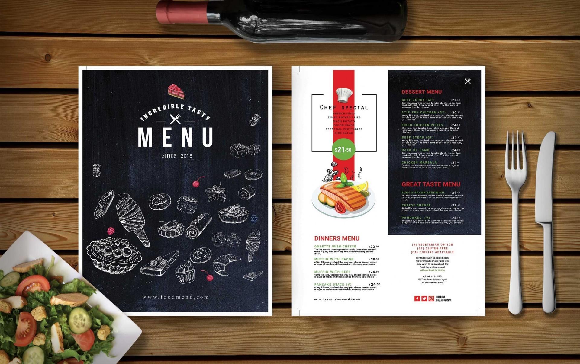 000 Impressive Restaurant Menu Template Free Download Psd Photo  Design1920
