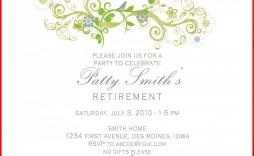 000 Impressive Retirement Party Invite Template High Definition  Invitation Online M Word Free