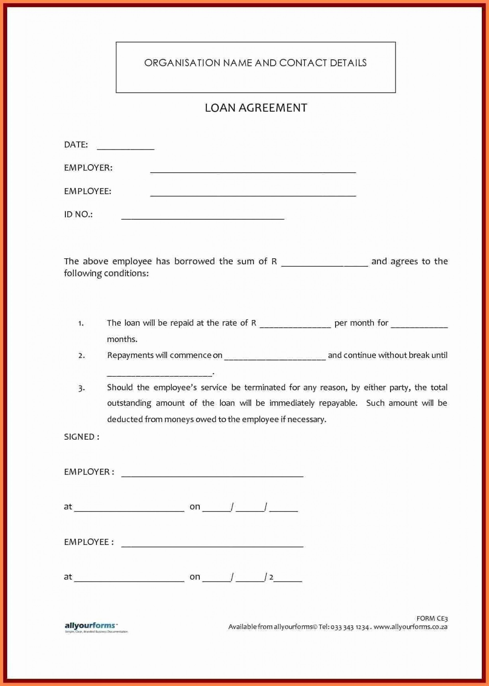 000 Impressive Simple Family Loan Agreement Template Australia Idea 1920
