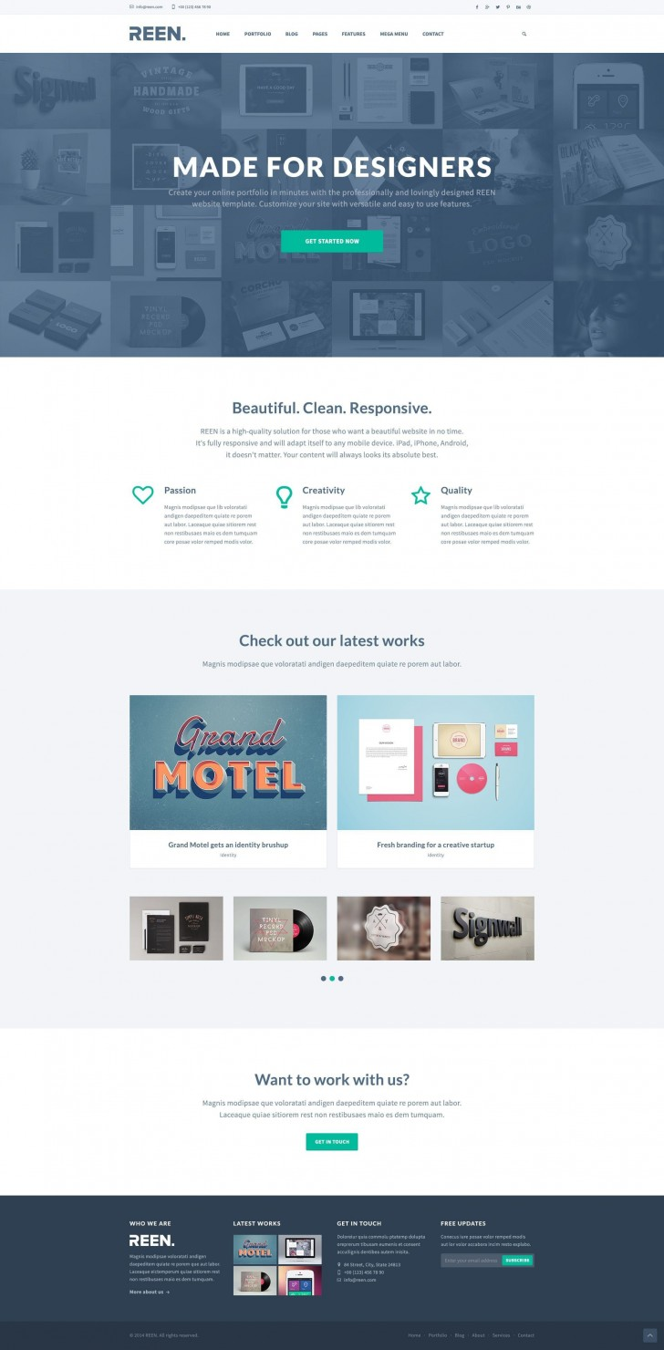 000 Impressive Web Template Free Download Idea  Psd Website Bootstrap Responsive728