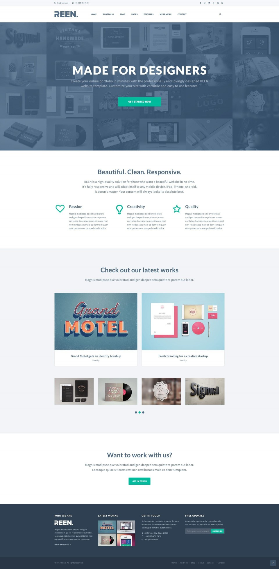 000 Impressive Web Template Free Download Idea  Psd Website Bootstrap Responsive960