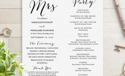 000 Impressive Wedding Order Of Service Template Free Download Idea  Downloadable That Can Be Printed