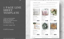 000 Impressive Wholesale Line Sheet Template Highest Quality  Excel