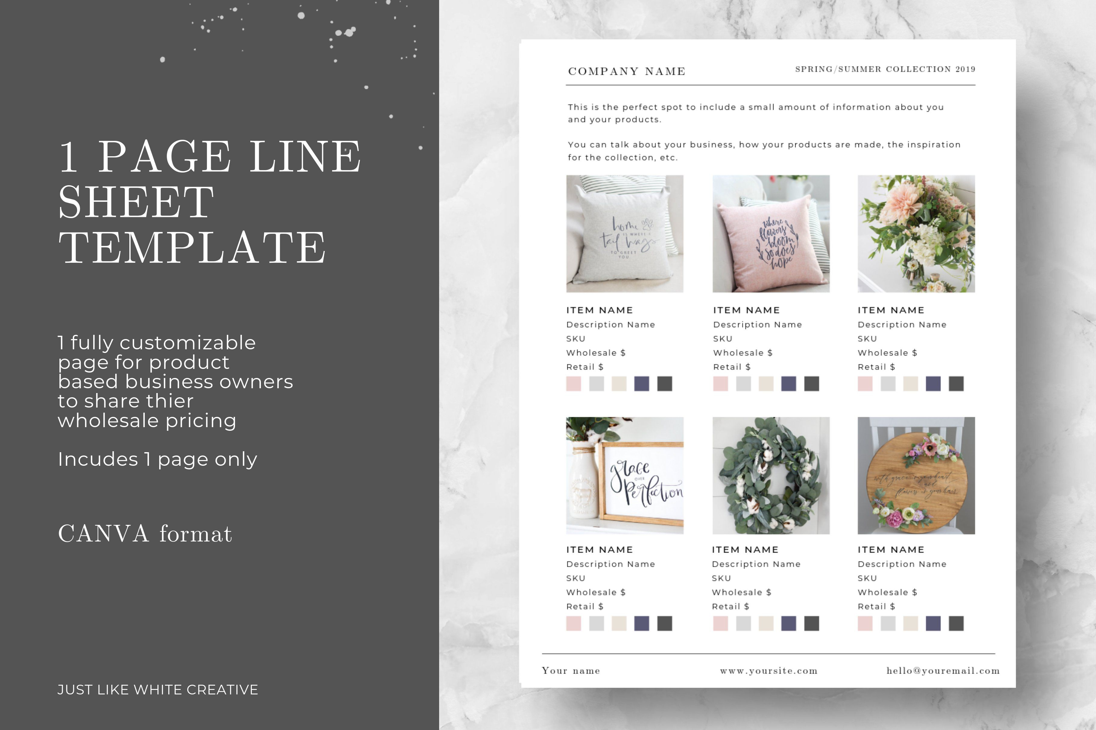 000 Impressive Wholesale Line Sheet Template Highest Quality  ExcelFull