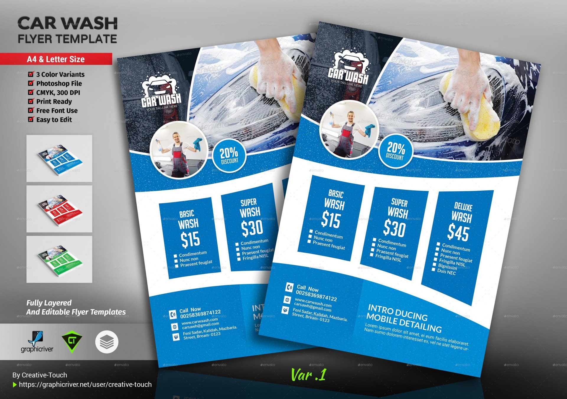 000 Incredible Car Wash Flyer Template Photo  Free Fundraiser Download1920