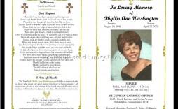 000 Incredible Celebration Of Life Program Template Free Photo  Editable Word