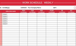 000 Incredible Excel Work Schedule Template Sample  Microsoft Plan Yearly Shift