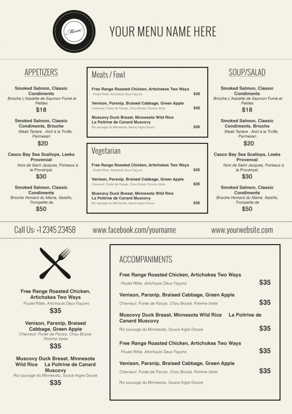 000 Incredible Free Printable Menu Template Highest Quality  For Dinner Party FamilyLarge