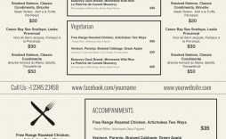 000 Incredible Free Printable Menu Template Highest Quality  For Dinner Party Family