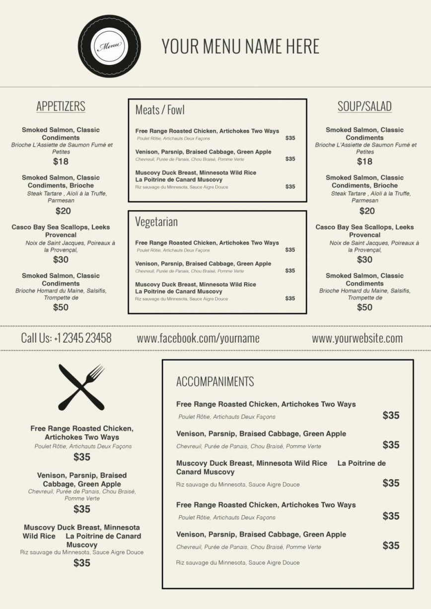 000 Incredible Free Printable Menu Template Highest Quality  Weekly Dinner Christma For Party
