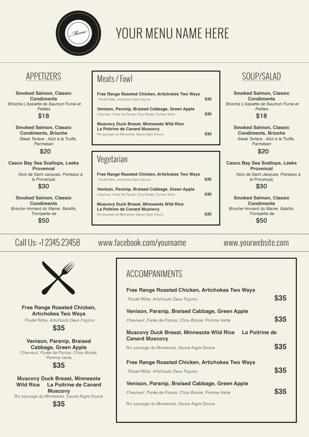 000 Incredible Free Printable Menu Template Highest Quality  For Dinner Party FamilyFull