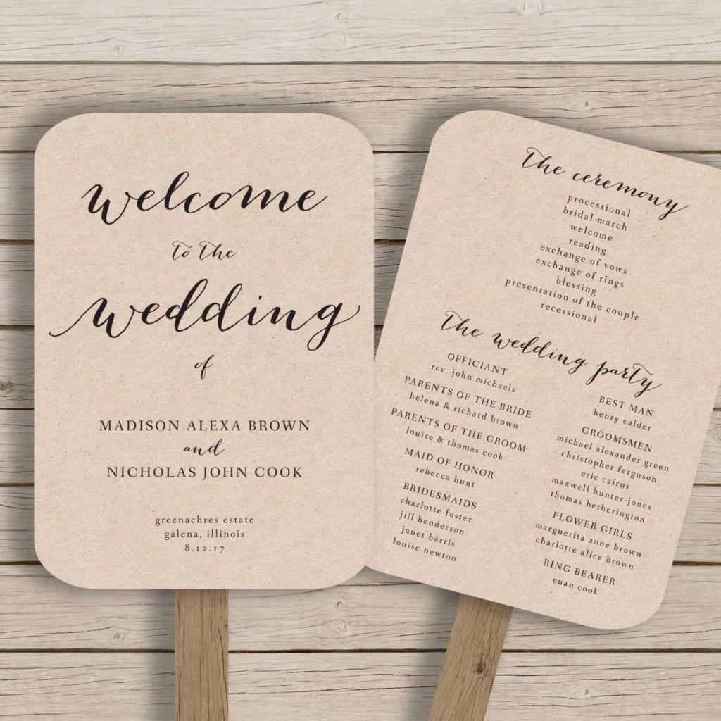 000 Incredible Free Printable Wedding Program Paddle Fan Template High Definition  TemplatesLarge