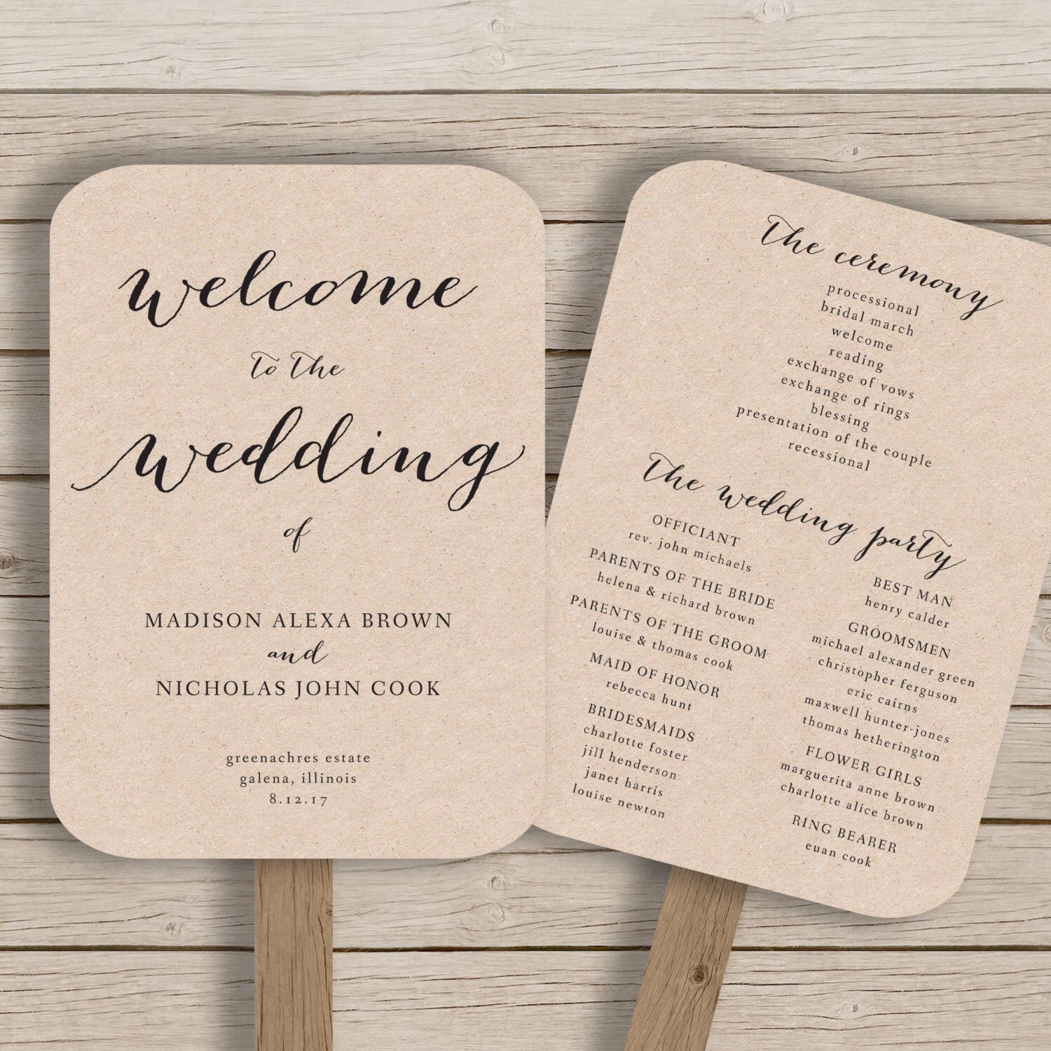 000 Incredible Free Printable Wedding Program Paddle Fan Template High Definition  TemplatesFull
