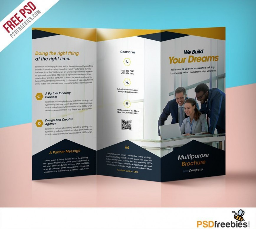 000 Incredible Free Psd Busines Brochure Template Example  Templates Flyer 2018 Photoshop