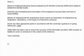 000 Incredible Free Reference Letter Template For Employee Highest Quality  Employment Word