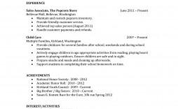 000 Incredible Free Sample High School Resume Template